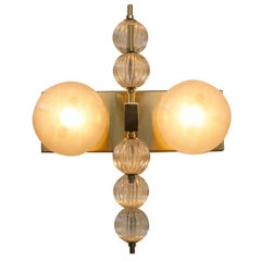 Two Globe Gray Wall Sconce