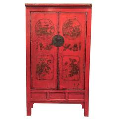 Antique Snake Lacquer Cabinet