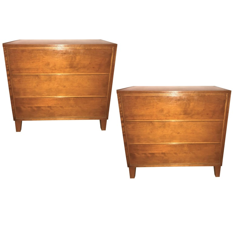 Pair of Custom Chests, Commodes or Nightstands by Conant Ball Makers