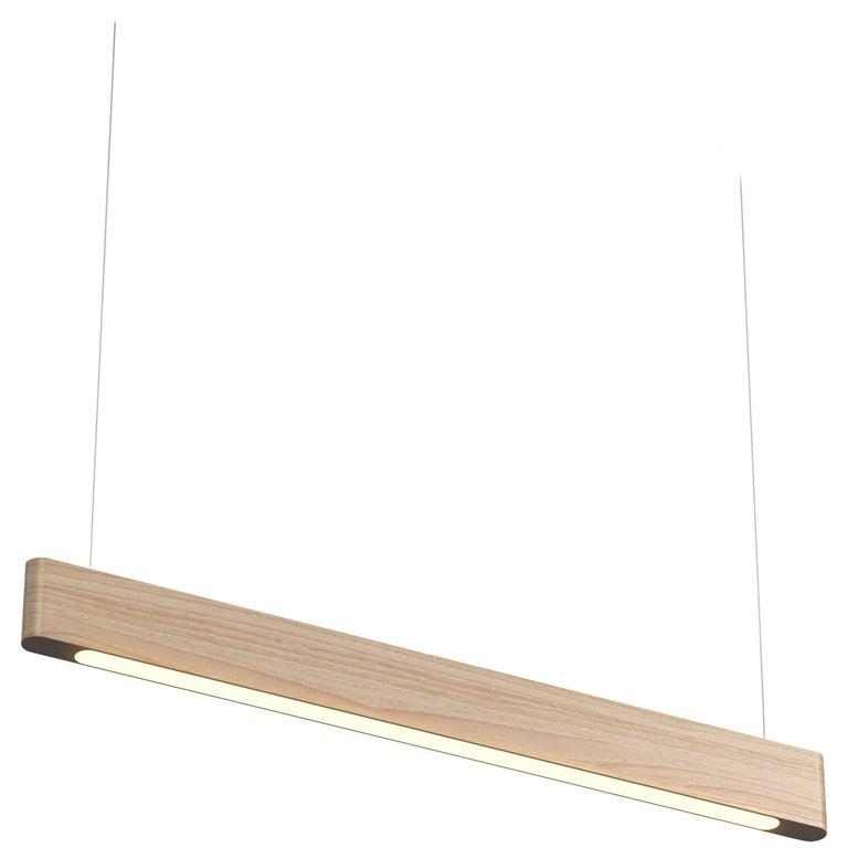 Line Light 40 White Ash (parallel) by Matthew McCormick Studio