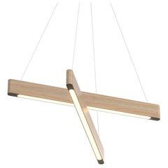 Line Light 4040 White Ash (Cross) by Matthew McCormick Studio
