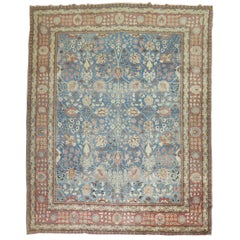 Denim Blue Persian Tabriz Rug