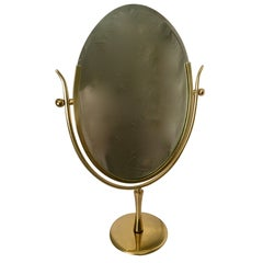 Charles Hollis Jones Brass Wishbone Vanity Mirror