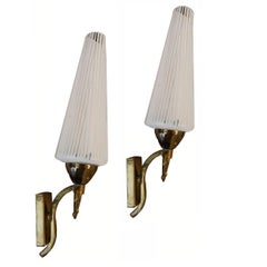 Pair of French Sconces by Lunel , 4 Pairs available