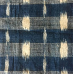 Antique Textile, Early 19th Century French Home Spun Indigo Dyed