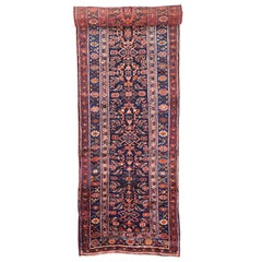 Late 19th-Century Antique Persian Kurd Runner with Modern Victorian Style