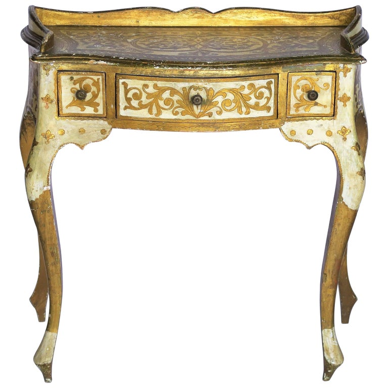 Italian Florentine Gilt Writing Desk