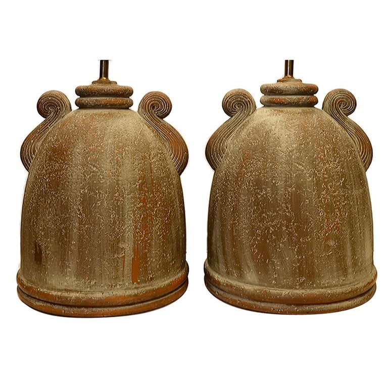 Pair of Terra Cotta Table Lamps