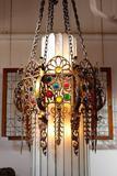 Ecclesiastical Byzantium Art Deco Pendant Fixture Circa