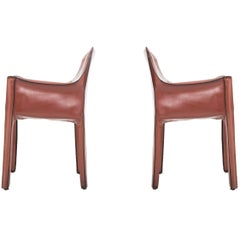 Pair of Mario Bellini Cab Chairs