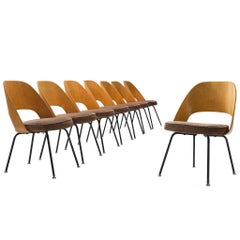 Set of Eight Eero Saarinen for Knoll Dining Chairs
