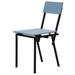 Chair Contemporary Style Blue Wood Metal
