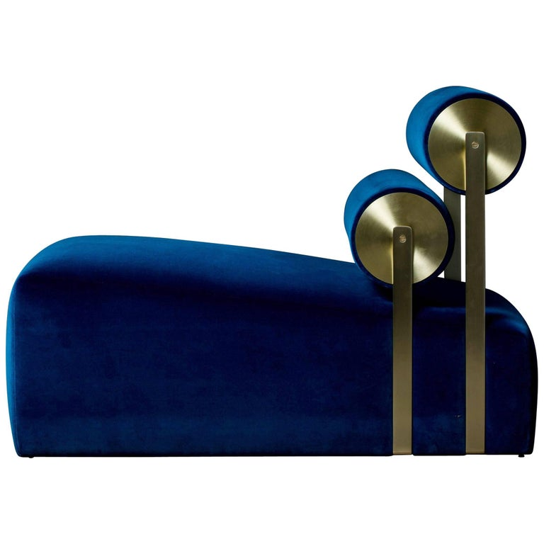 Gravity Lounge Chair in Indigo from the Qualia Collection by Azadeh Shladovsky For Sale