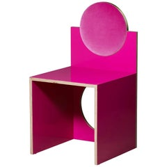 Void Chair in Fuchsia from the Qualia Collection by Azadeh Shladovsky