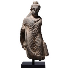 Ancient Buddhist Gandharan Stone Sculpture of Buddha, 250 AD