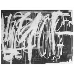 """Hidden Figures 1"", Gray and White Original Painting by Karina Gentinetta"