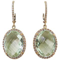 Zoccai Amazing Green Amethyst gold Drop Earrings