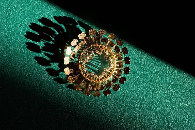 1960s Tapio Wirkkala Handmade Diamond Gold