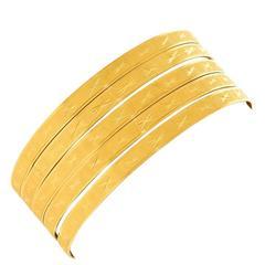 Five Italian Bangles in Gold