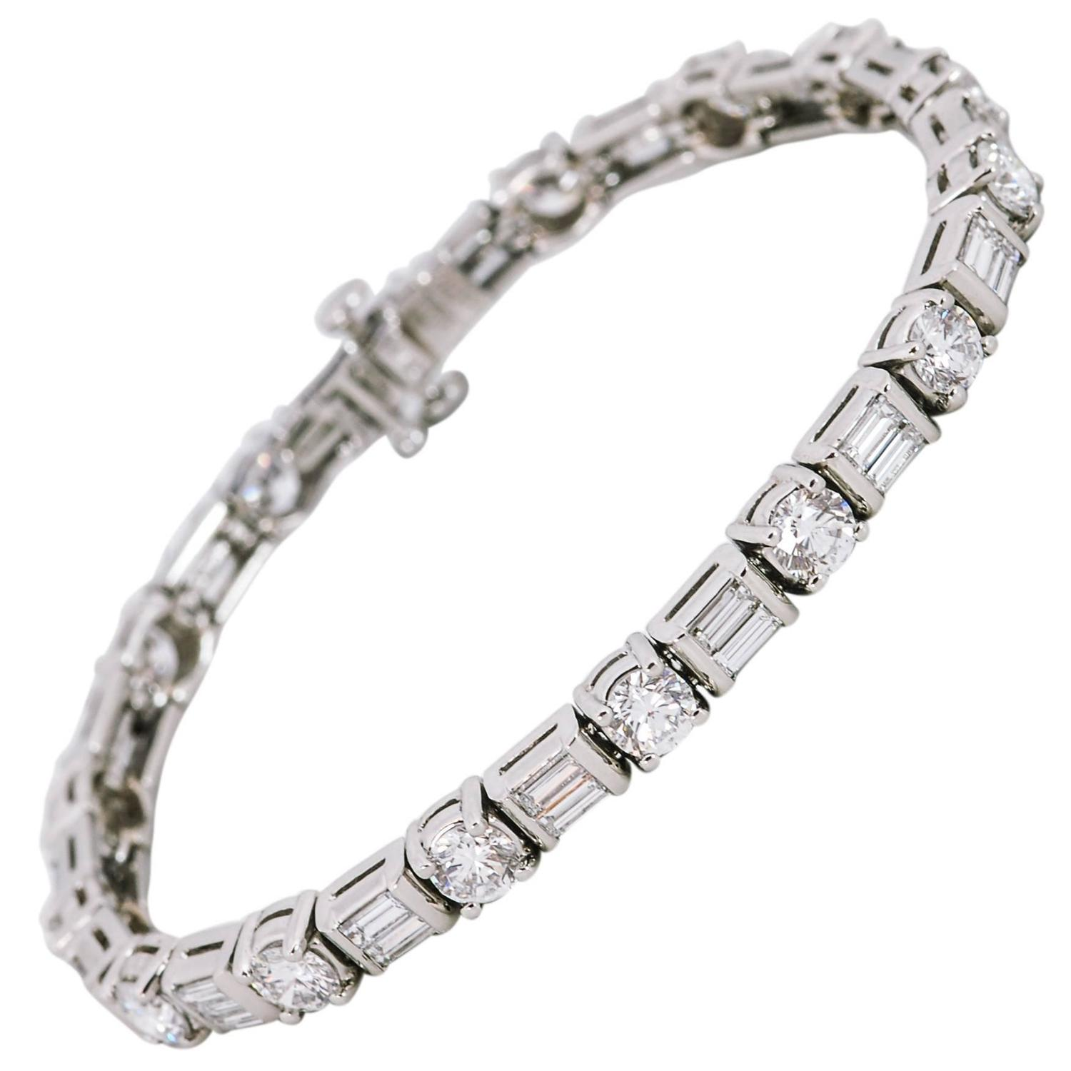 Diamond Platinum Tennis Bracelet At 1stdibs