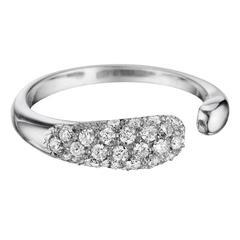 Faraone Mennella Diamond White Gold Gocce Ring