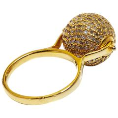 Jade Jagger Diamond Disco Ball Ring