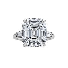 Art Deco Asscher Cut 9.34 Carat Diamond Platinum Engagement Ring