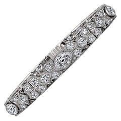 Cartier Magnificent Art Deco Diamond Platinum Bracelet