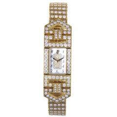 Audemars Piguet Yellow Gold Diamond Charleston quartz Wristwatch