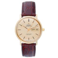 Omega for Tiffany yellow gold Seamaster DeVille Automatic Winding wristwatch