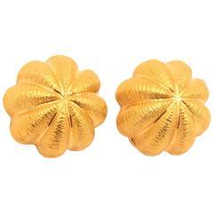 TIFFANY & CO., Gold Sea Urchin Earrings.