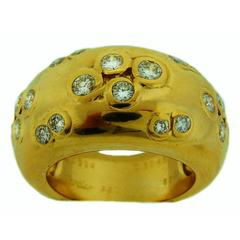 1994 Cartier Diamond Gold Band Ring