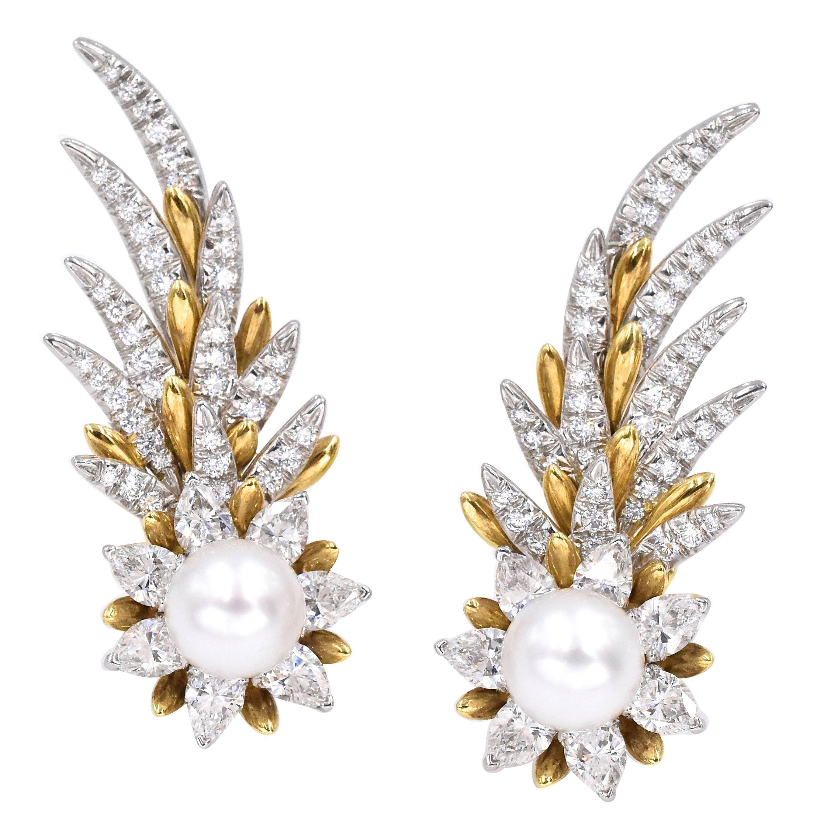 Tiffany & Co. Jean Schlumberger Flame Ear Clips
