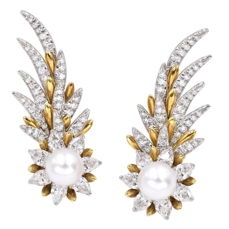 Tiffany & Co. Jean Schlumberger Flame Ear Clips For Sale