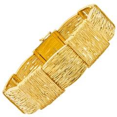 Cartier Wheat Motif 18 Karat Yellow Gold Bracelet
