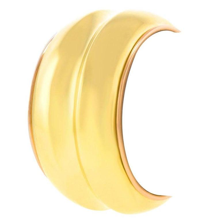 Emil Meister Massive Modernist Gold Bangle