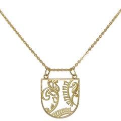 Luca Jouel Gold Botanical Necklace