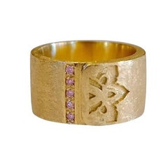 Luca Jouel Pink Argyle Diamond Gold Ring