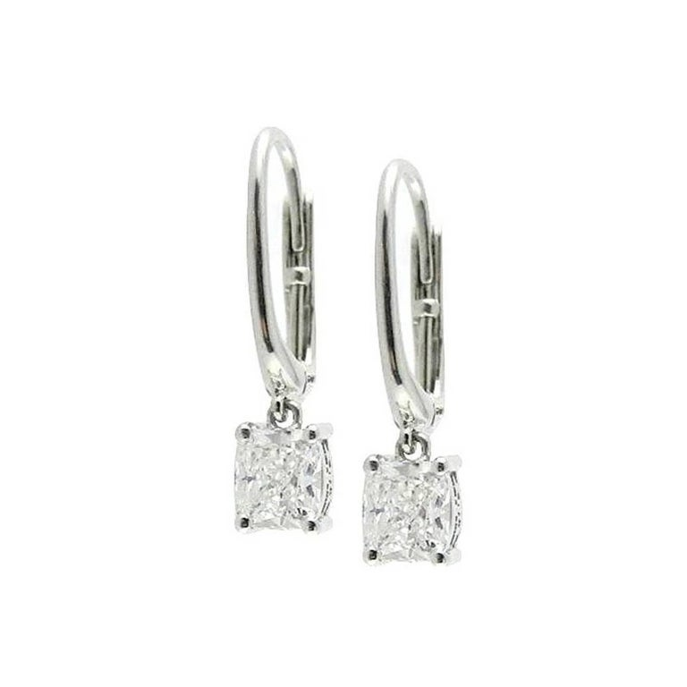 Luca Jouel Diamond and Platinum Earrings