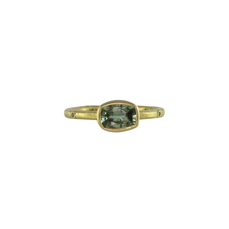 Luca Jouel Green Sapphire & Champagne Diamond Gold Ring 1