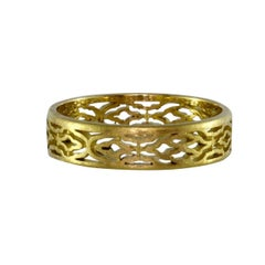 Gold Arabesque Patterned Ring