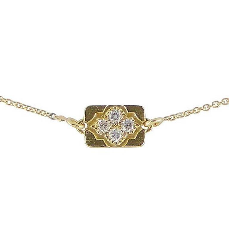 Luca Jouel Diamond Petite Gold Arabesque Necklace