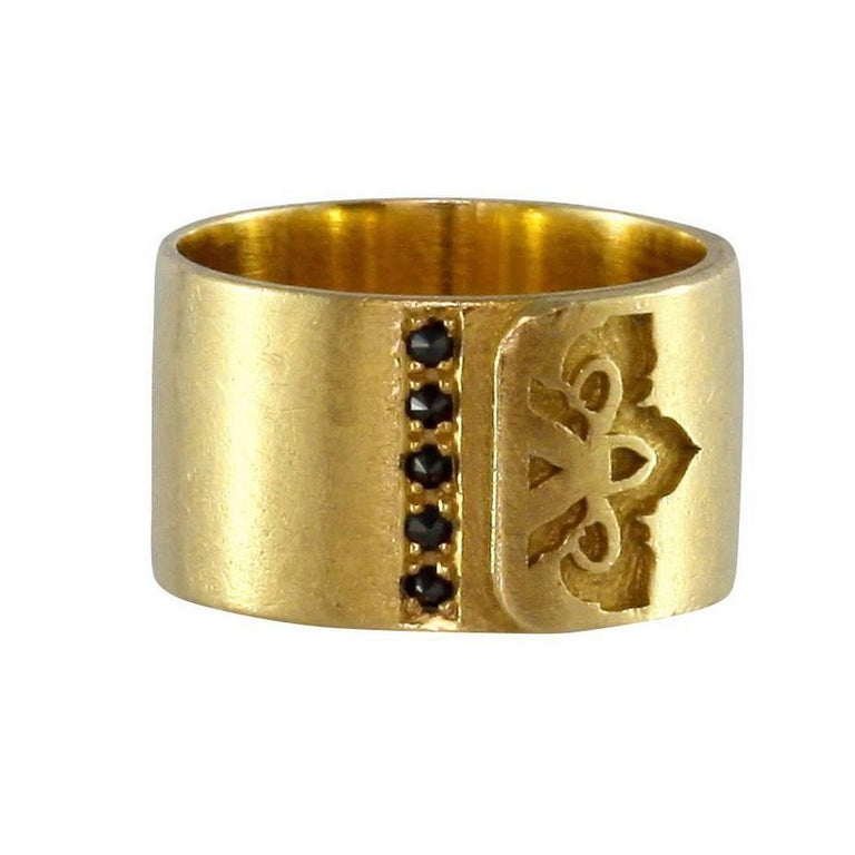 Luca Jouel Black Diamond Gold Ikon Ring
