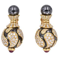 stud cushion classic womens cut gem hematite earrings rock tacori