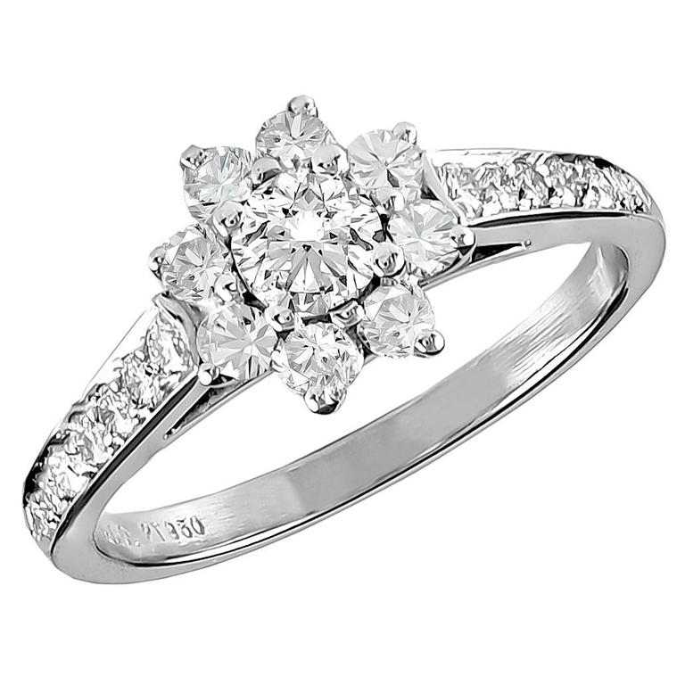 TIFFANY & CO.  Diamond Platinum Ring