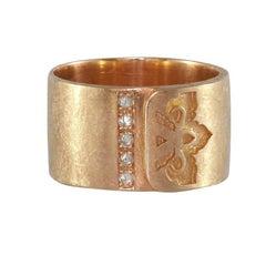Luca Jouel Diamond Rose Gold Ikon Ring