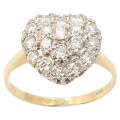 Antique Victorian Transitional Diamond Heart Ring