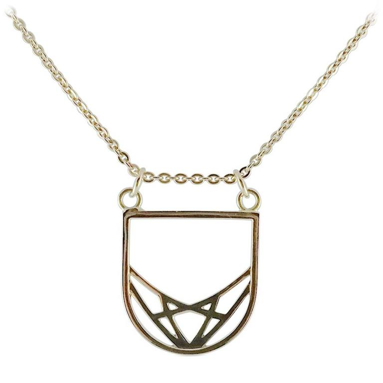 Rose gold deco necklace for sale at 1stdibs for Deco maison rose gold