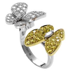 Van Cleef & Arpels Yellow Sapphire Diamond Two Color Gold Ring