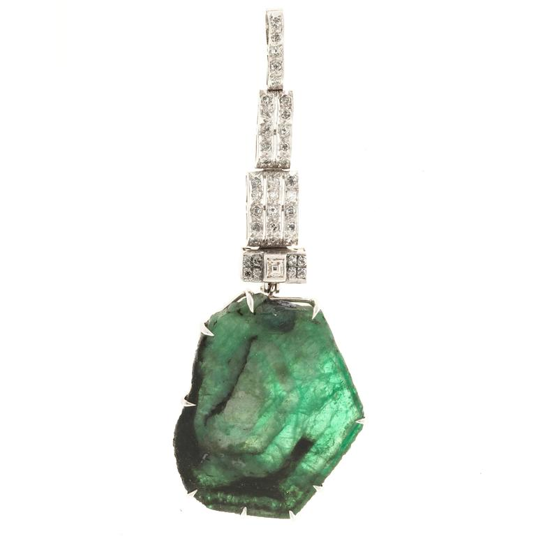 by products emerald yard diamond chain pendant natural